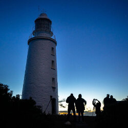 Setting up for astro shoot at Bruny Island Lighthouse<br/>Photo Credit: Peter Haywood