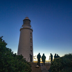 Setting up for an astro shoot at Bruny Island Lighthouse