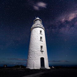 Milky Way at Bruny Island Lighthouse<br/>Photo Credit: Simon Chin<br/>Canon 6D f/2.8 16mm 20s ISO400