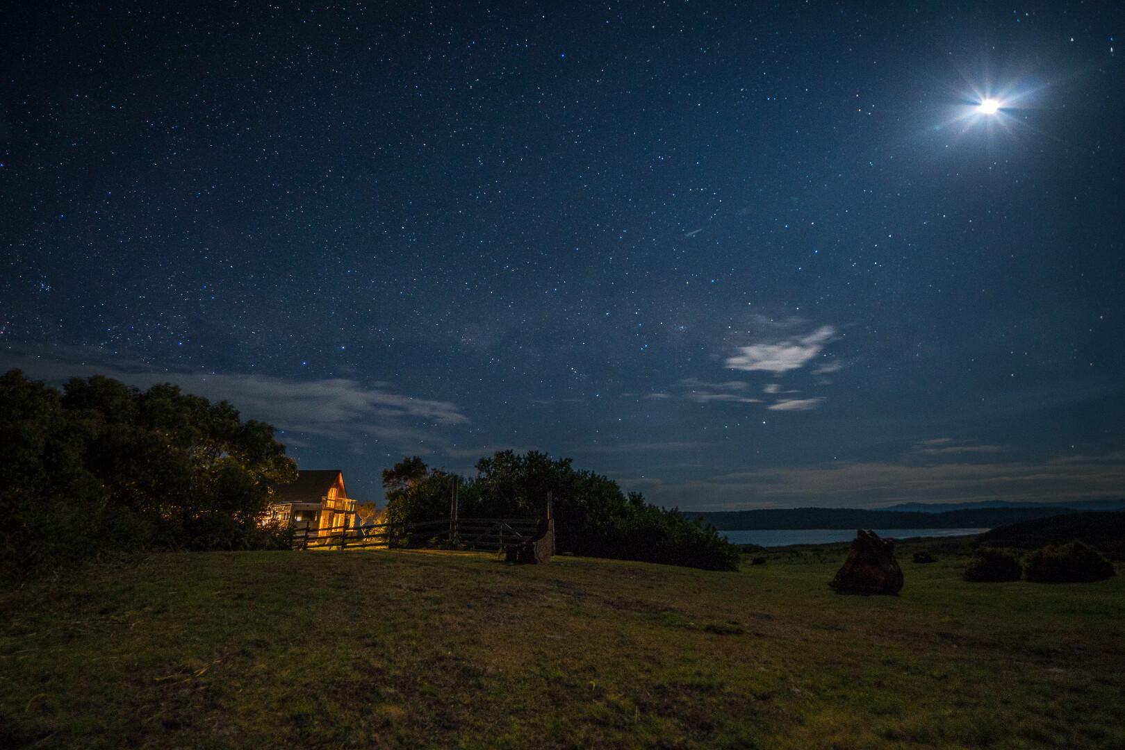 Night sky at Cloudy Bay Villa