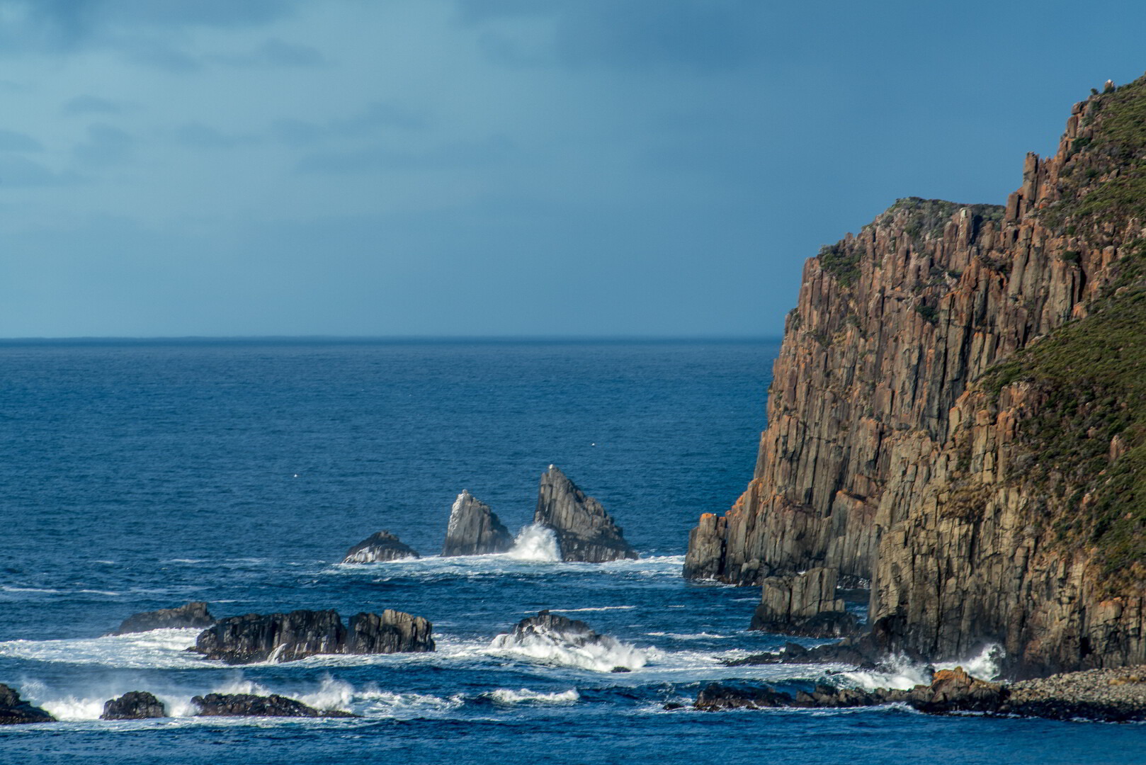Dolerite cliffs at Cape Bruny