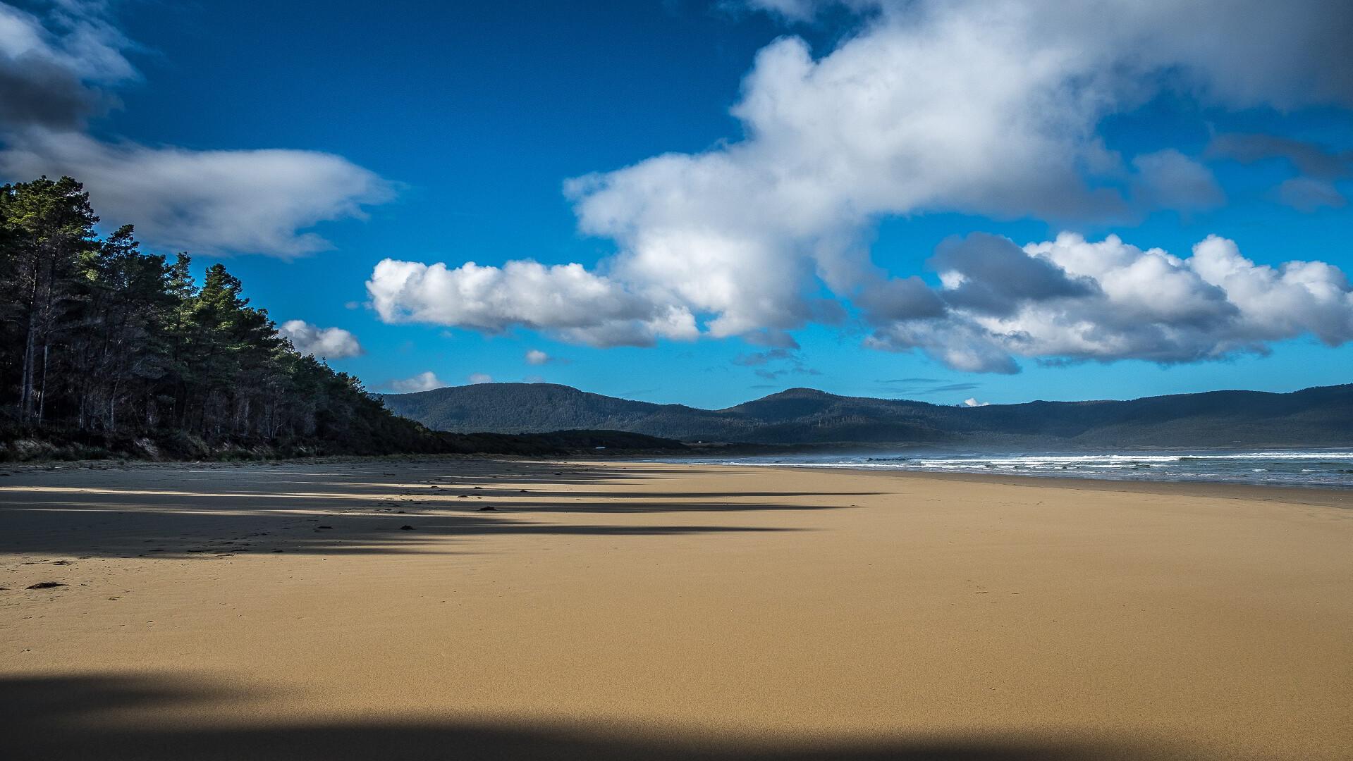 A pristine Bruny Island beach