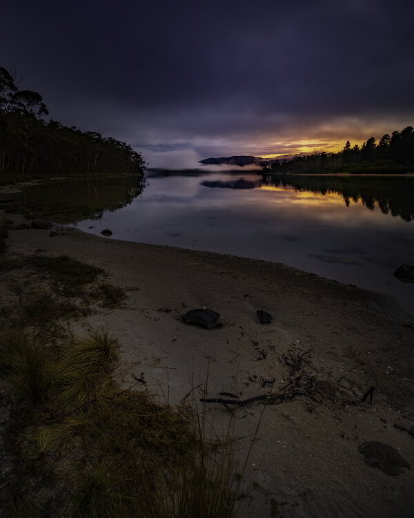 Sunrise over Cloudy Bay Lagoon - guest contribution by Alistair Haughton